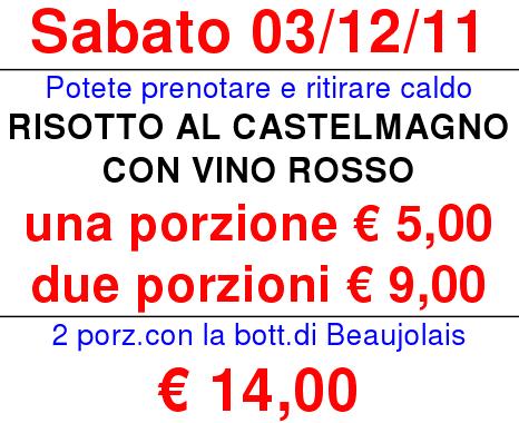 Risotto al Castelmagno con vino rosso e vino Beaujolais