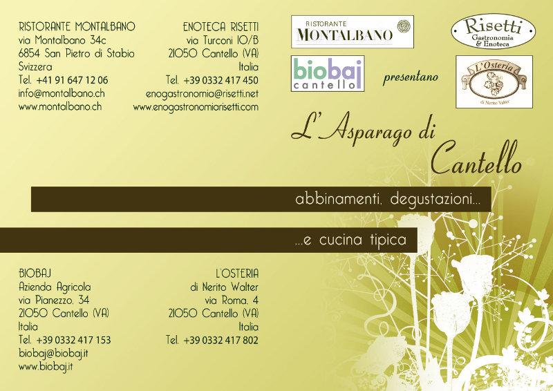 L'asparago di Cantello: abbinamenti, degustazioni, cucina tipica. Primavera 2012
