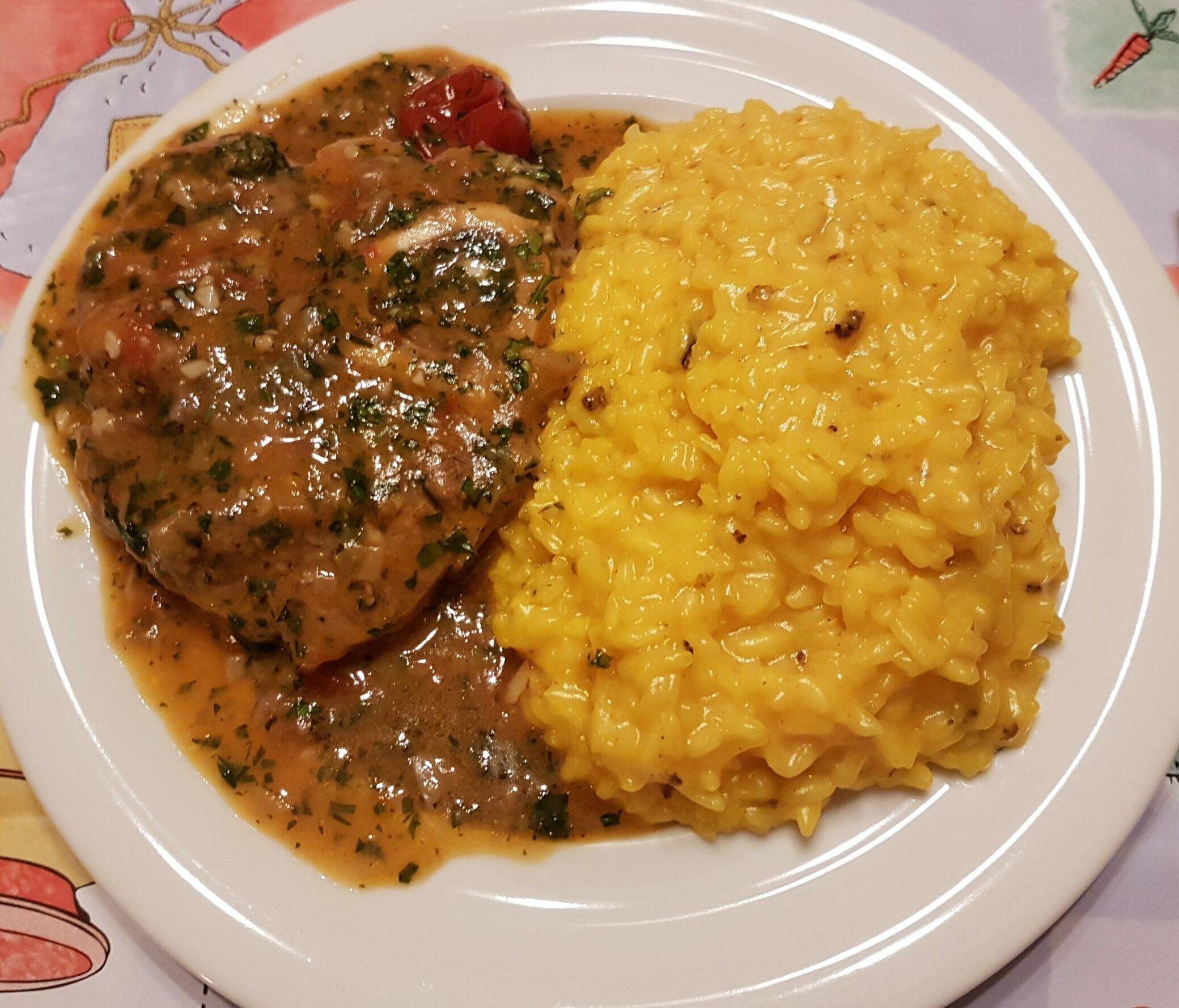 Piatto caldo del sabato: ossobuco con risotto
