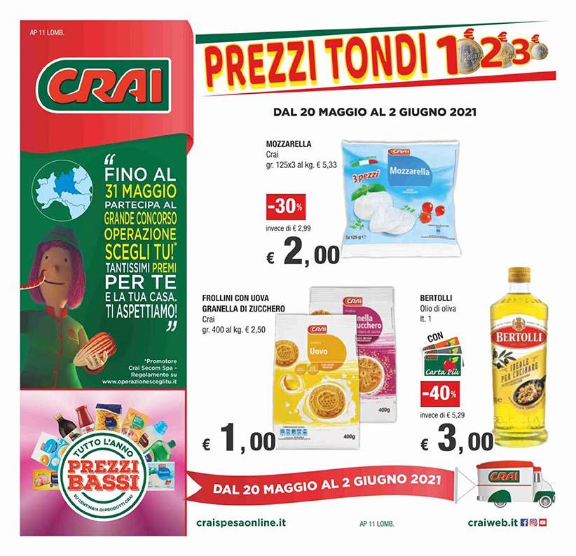 Prezzi tondi: 1€ 2€ 3€