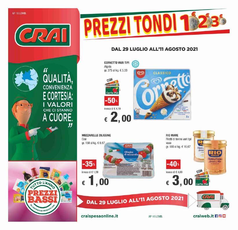 Prezzi tondi 1€ 2€ 3€